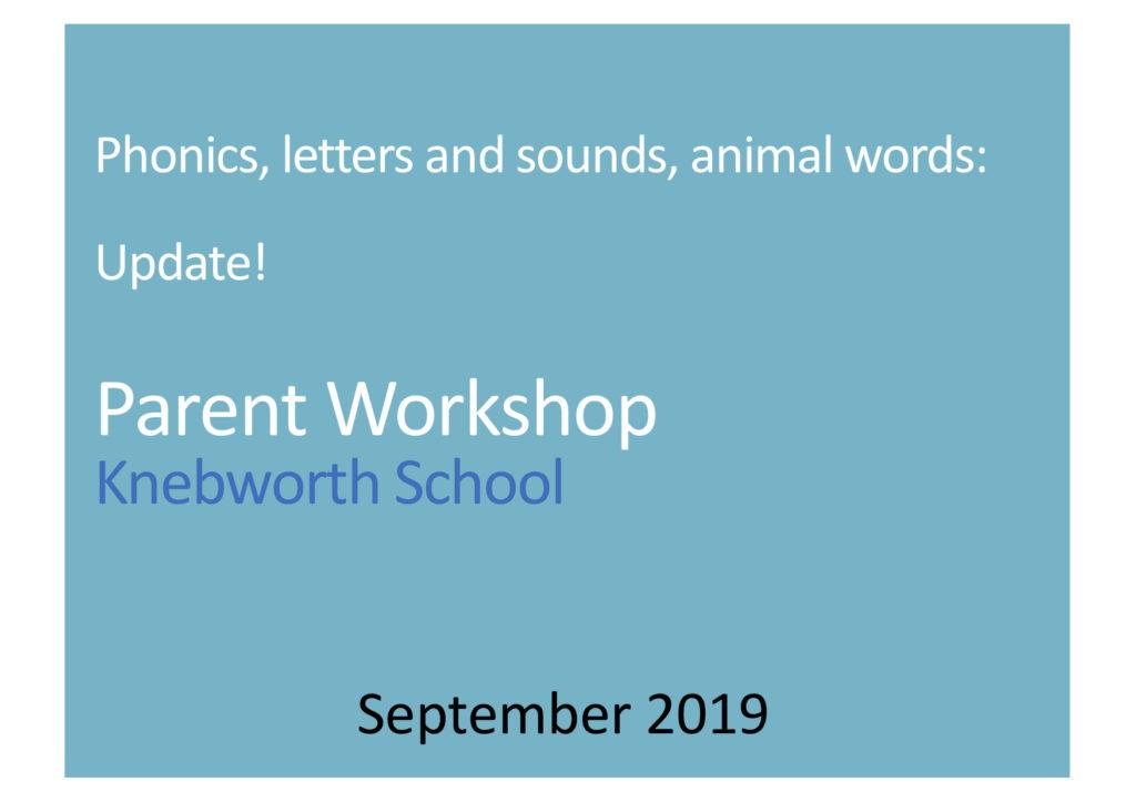 Download The Phonics Parent Workshop, 2019