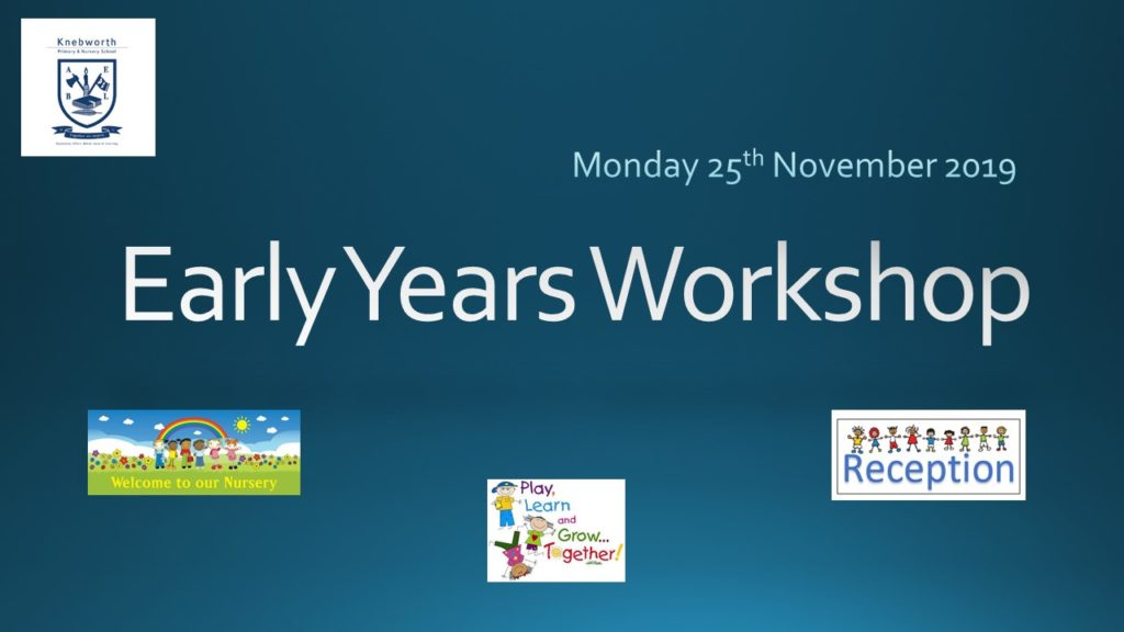 Early Years Workshop - with maths, 2019